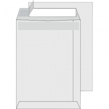 Tašky obchodní C5 s krycí páskou bílé 250 ks