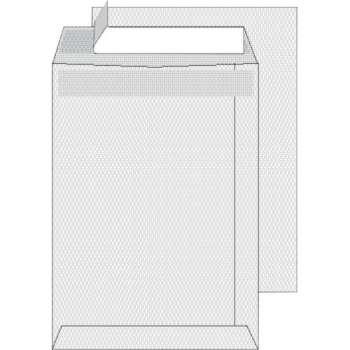 Tašky obchodní C5 s krycí páskou bílé 500 ks