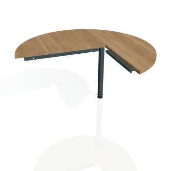 Přídavný stůl Hobis CROSS CP 22 levý, višeň/kov