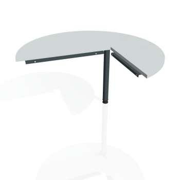 Přídavný stůl Hobis CROSS CP 22 levý, šedá/kov