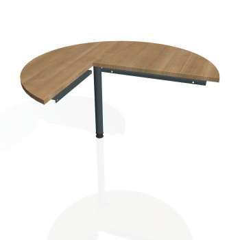 Přídavný stůl Hobis CROSS CP 22 pravý, višeň/kov