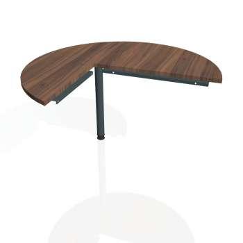 Přídavný stůl Hobis CROSS CP 22 pravý, ořech/kov