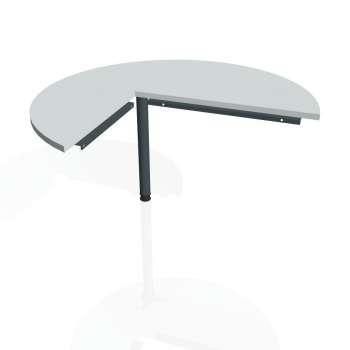 Přídavný stůl Hobis CROSS CP 22 pravý, šedá/kov