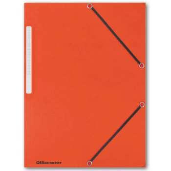 Prešpánové desky s chlopněmi a gumičkou Office Depot - A4, oranžová , 10 ks