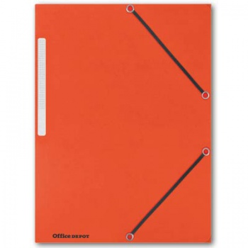Prešpánové desky s chlopněmi a gumičkou Office Depot - A4, oranžové, 10 ks