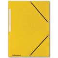 Prešpánové desky s chlopněmi a gumičkou Office Depot - žluté, 10 ks