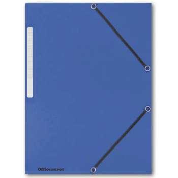 Prešpánové desky s chlopněmi a gumičkou Office Depot - A4, modrá , 10 ks