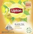 Čaj Lipton Lemon černý, 20 x 1,7 g