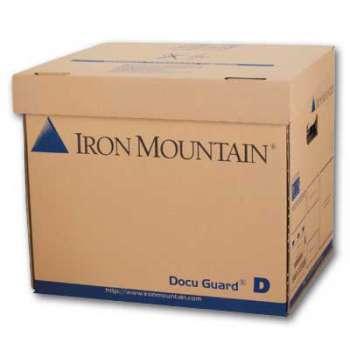 Archivační krabice Iron Mountain - typ D, s víkem, 36 x 31 x 31 cm, hnědá