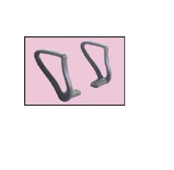 Pevné područky k židli Realspace Hugo - černé, 2 ks