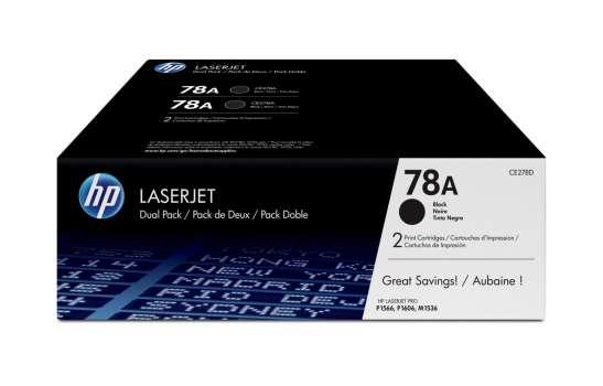 Toner HP CE278AD/78A - černá, dvojbalení