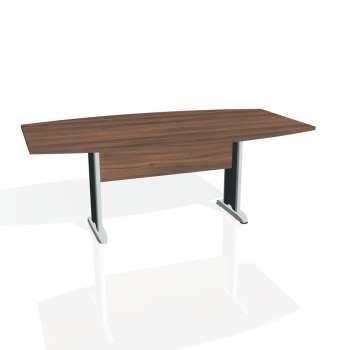 Jednací stůl Hobis CROSS CJ 200, ořech/kov