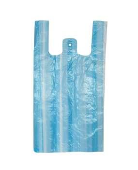 Mikrotenová taška - modro-bílé pruhy, 100 ks