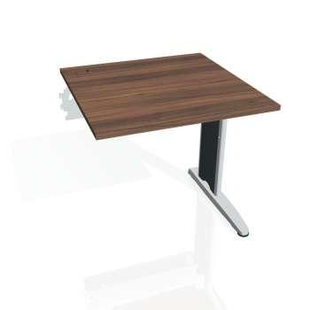 Psací stůl Hobis FLEX FS 800 R, ořech/kov