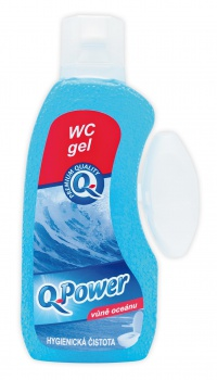 WC gel Q-Power - oceán, 400 ml
