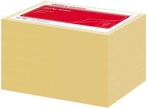 Samolepicí bločky Office Depot 76,0 x 51,0 mm, žluté, 12 ks