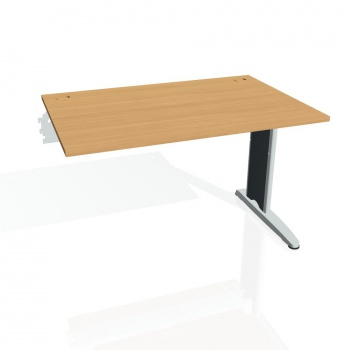 Psací stůl Hobis FLEX FS 1200 R, buk/kov