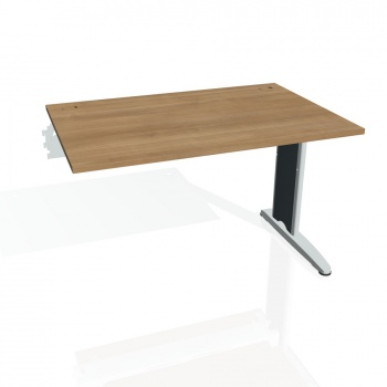 Psací stůl Hobis FLEX FS 1200 R, višeň/kov