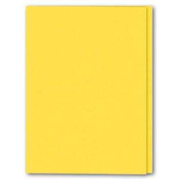 Prešpánové desky bez chlopní Office Depot - A4 - žlutá, 100 ks