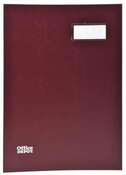 Podpisová kniha Office Depot - A4, 20 listů, bordó