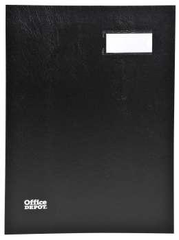 Podpisová kniha Office Depot - A4, 20 listů, černá