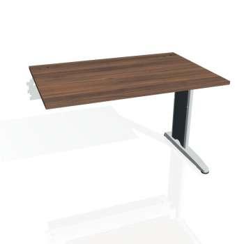 Psací stůl Hobis FLEX FS 1200 R, ořech/kov