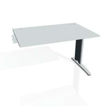Psací stůl Hobis FLEX FS 1200 R, šedá/kov