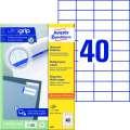 Univerzální etikety Avery Zweckform - bílé, 52,5 x 29,7 mm, 4 000 ks