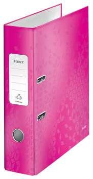 Pákový pořadač Leitz 180° WOW, A4, růžový