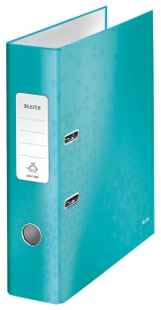 Pákový pořadač LEITZ WOW 180° - A4, laminovaný karton, hřbet 8,0 cm, ledově modrý