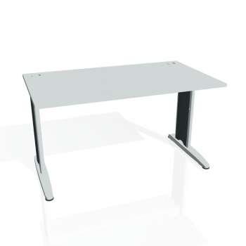 Psací stůl Hobis FLEX FS 1400, šedá/kov