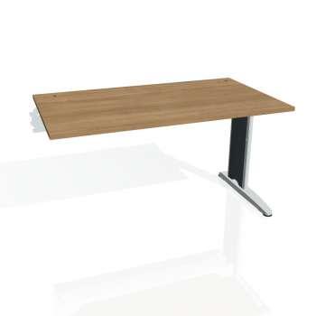 Psací stůl Hobis FLEX FS 1400 R, višeň/kov