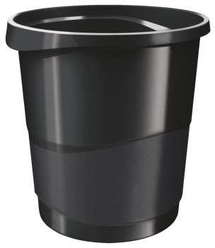 Odpadkový koš Esselte VIVIDA - plastový, černý, objem 14 l