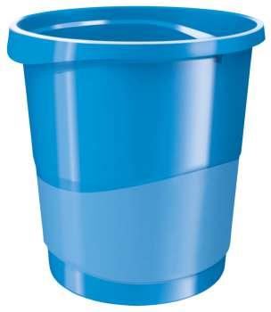 Odpadkový koš Esselte VIVIDA - plastový, modrý, objem 14 l