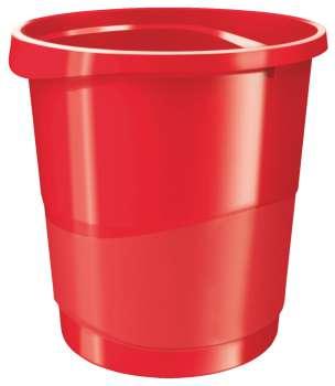 Odpadkový koš Esselte VIVIDA - plastový, červený, objem 14 l