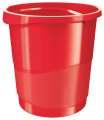 Odpadkový koš Esselte VIVIDA - plastový, červený , objem 14 l