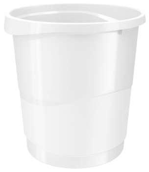 Odpadkový koš Esselte VIVIDA - plastový, bílý, objem 14 l