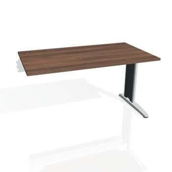 Psací stůl Hobis FLEX FS 1400 R, ořech/kov