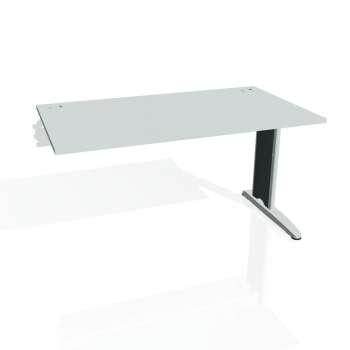 Psací stůl Hobis FLEX FS 1400 R, šedá/kov