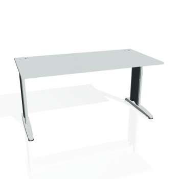 Psací stůl Hobis FLEX FS 1600, šedá/kov