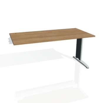 Psací stůl Hobis FLEX FS 1600 R, višeň/kov