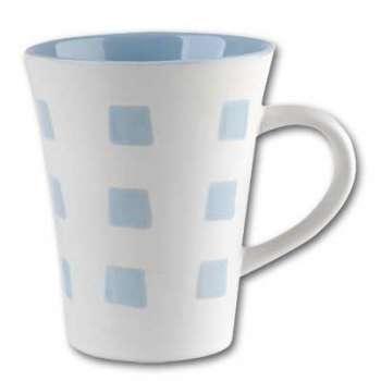 Hrníček - bílo/modrý, 6 x 250 ml