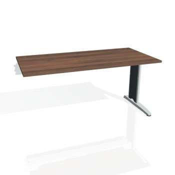 Psací stůl Hobis FLEX FS 1600 R, ořech/kov