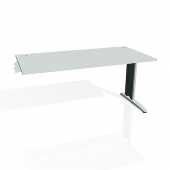 Psací stůl Hobis FLEX FS 1600 R, šedá/kov