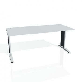 Psací stůl Hobis FLEX FS 1800, šedá/kov