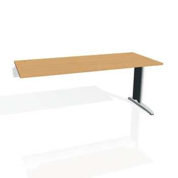 Psací stůl Hobis FLEX FS 1800 R, buk/kov