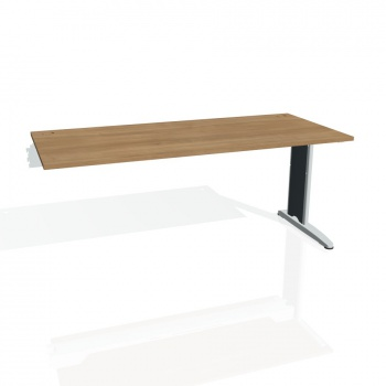 Psací stůl Hobis FLEX FS 1800 R, višeň/kov