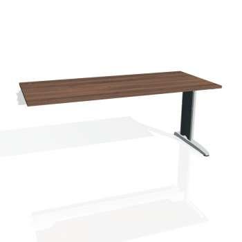 Psací stůl Hobis FLEX FS 1800 R, ořech/kov