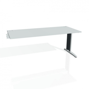 Psací stůl Hobis FLEX FS 1800 R, šedá/kov