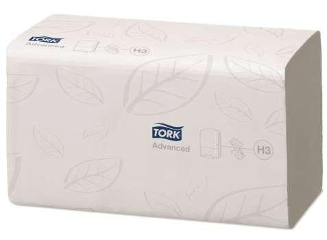 """Papírové ručníky """"Z"""" Tork Singlefold, bílé, 2-vrstvé"""